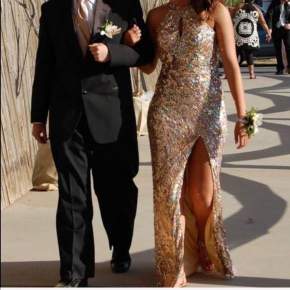Rose Gold Prom Dress